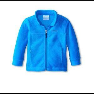 Columbia kids light blue fleece zip up size M10-12